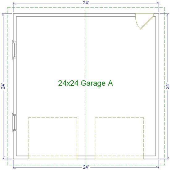 24 39 x 24 39 two car garage a modular garages custom for 1 5 car garage dimensions