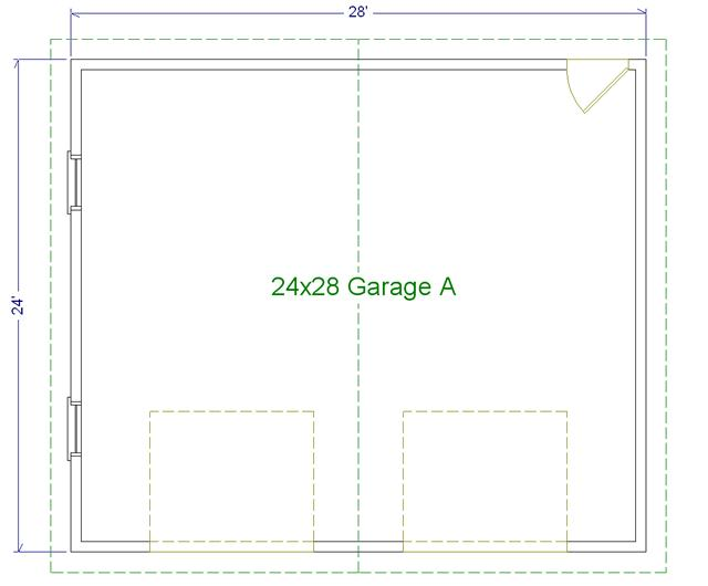 24 39 x 28 39 two car garage a modular garages custom for 28 x 24 garage plans