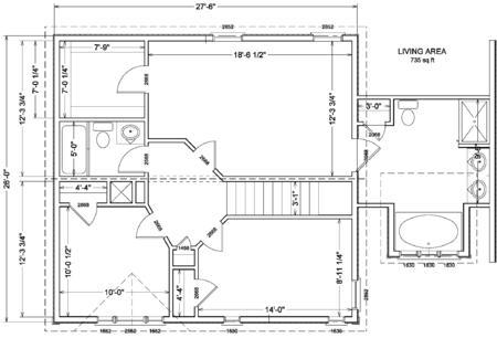 Baldwin ii w garage and luxury bath craftsman style for Baldwin floor plan