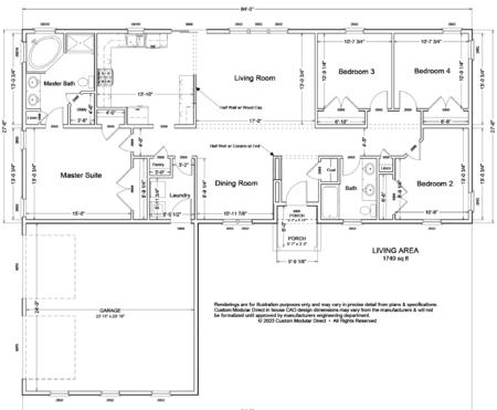 Modular home modular home garage floor plans for Engineered garage plans
