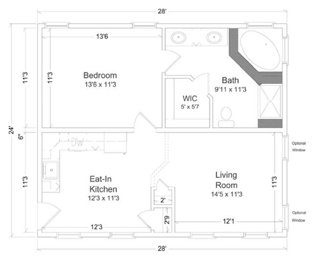 In law suite 1 inlaw suites custom modular direct for Floor plans for in law suite addition
