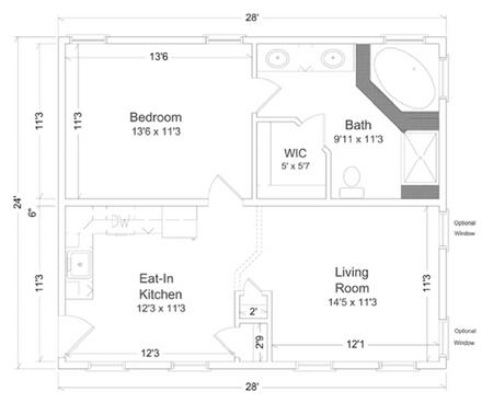 In law suite 1 inlaw suites custom modular direct for Modular home floor plans with inlaw apartment