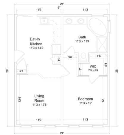 In law suite 2 inlaw suites custom modular direct for In law suite floor plans